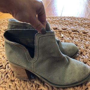 Suede heeled booties